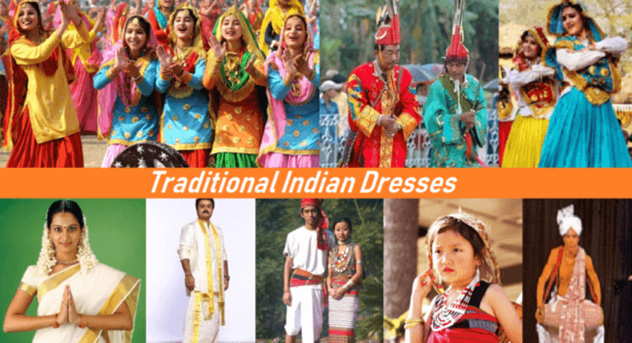 traditional dresses of different states of india with pictures and names