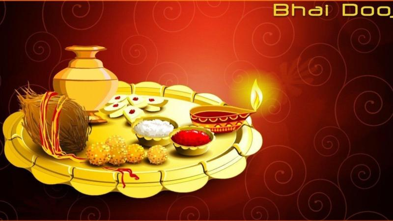 Bhai Dooj – Celebrating bond between brother and sister.
