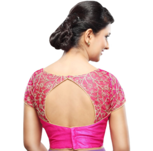 Blouse with back shaped