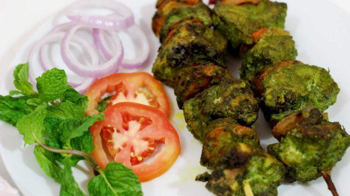 Hariyali Chicken Kabab | Green Chicken Kabab