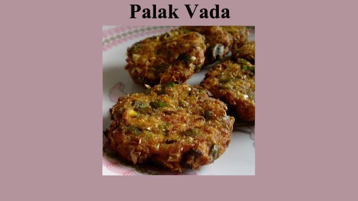 Palak vada/Spinach Fritter