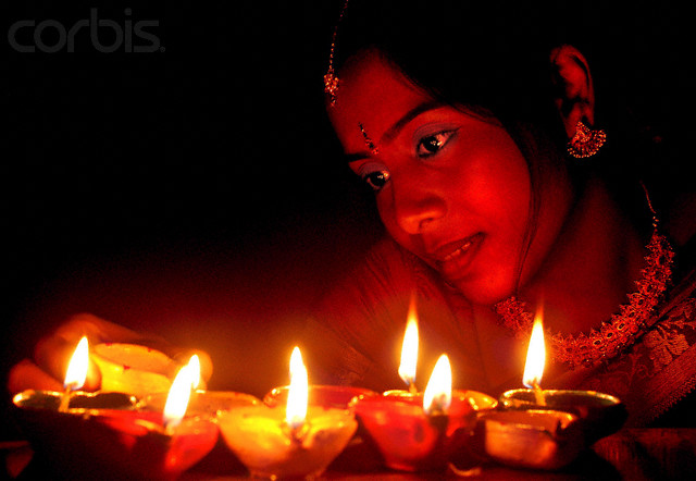 lighting of diyas