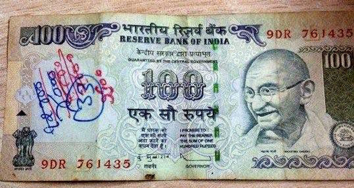 Don't write anything on new notes of our country