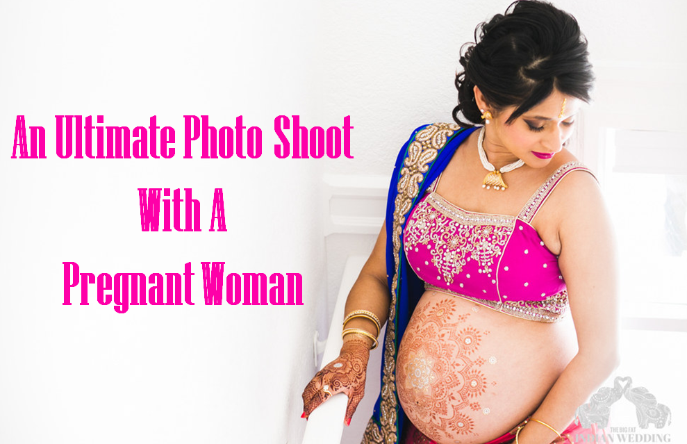 Photo Shoot With A Pregnant Woman As A Model
