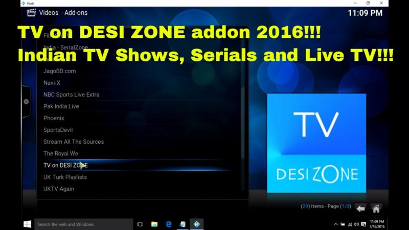 TV on DESI ZONE Addon for Kodi