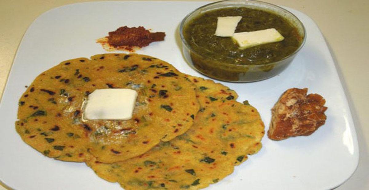 Punjabi Sarson Ka Saag Aur Makki Ki Roti