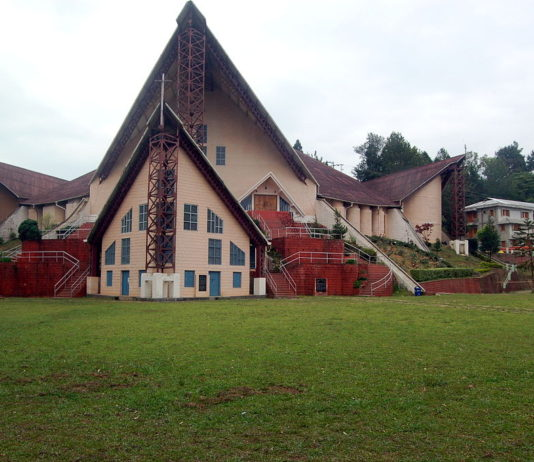 The Catholic Cathedral in Kohima City