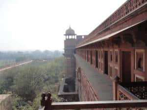 Outside view from red fort
