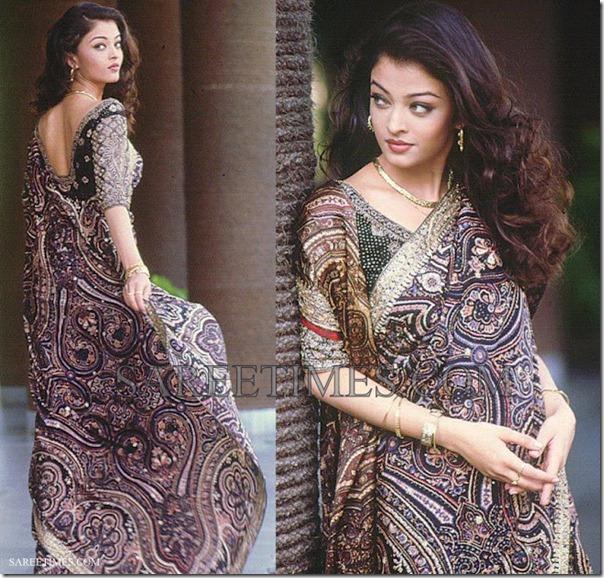 Sari Source: http://www.sareetimes.com/search/label/Aishwarya%20Rai
