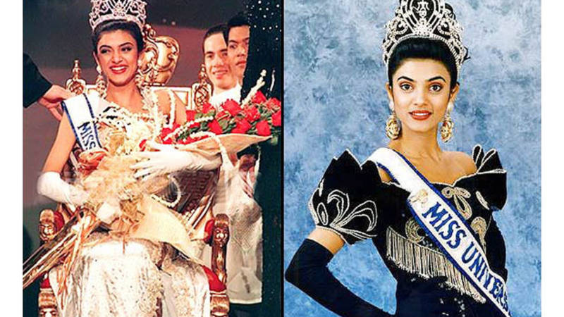 Sushmita Sen walked the stage of Miss Universe beauty pageant as Judge