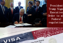 President Trump Signs Executive Order to aim Federal regulations