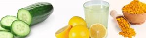 Cucumber Lemon Tumeric face pack