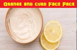 Orange and curd Face Pack