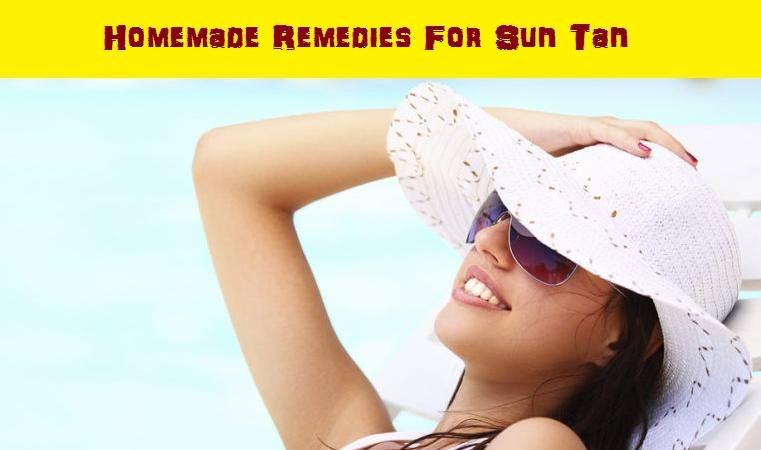 Homemade Remedies For Skin Tanning