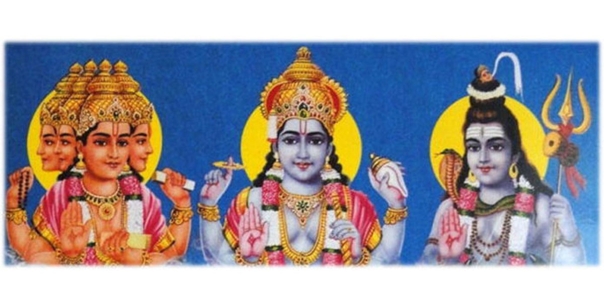 Trimurti – Brahma, Vishnu and Shiva