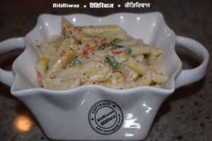 Pasta in home made white sauce