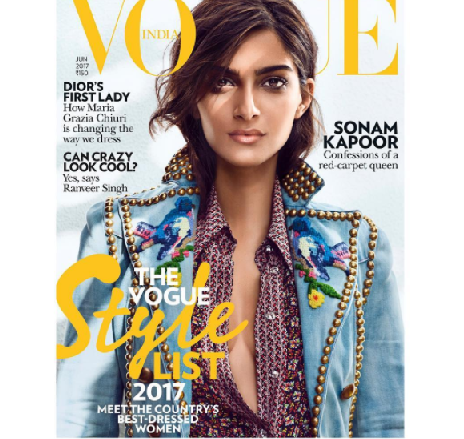 Sonam Kapoor is the cover girl for Vogue