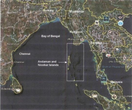 Andaman and Nicobar Map