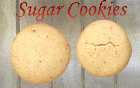 Whole Wheat Sugar Cookies (eggless)