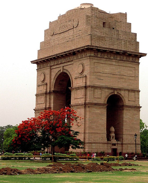 India Gate view