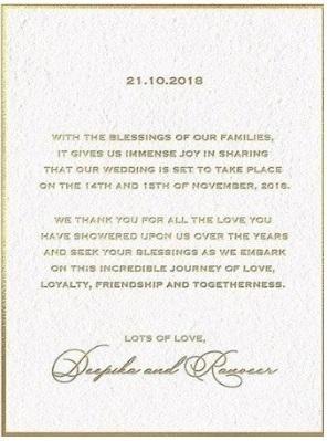DeepVeer-Wedding-Invitation