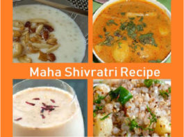 Maha Shivratri Food