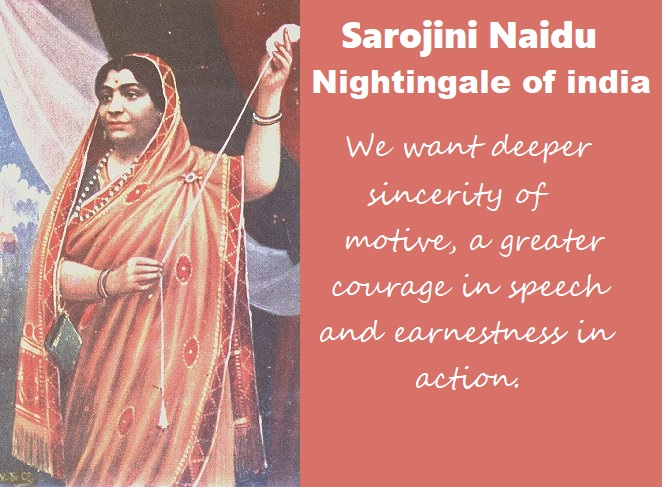 Sarojini Naidu (Nightingale of India)