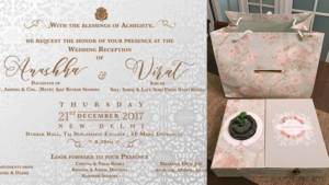virat anushka wedding card