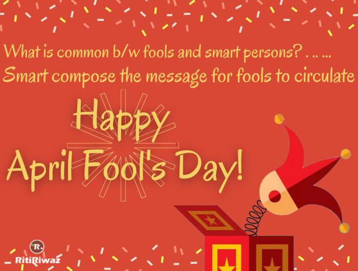 April Fool wishes