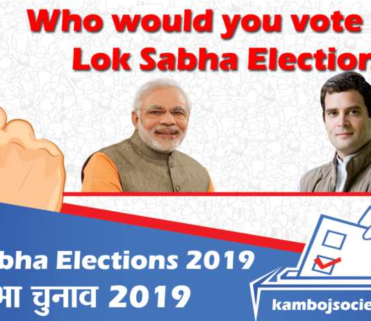 Who would you vote in the 2019 Lok Sabha Elections