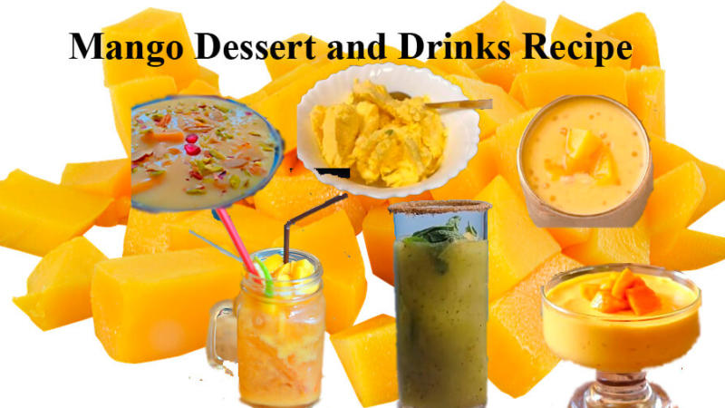 10 Mango Dessert and Drinks Recipe
