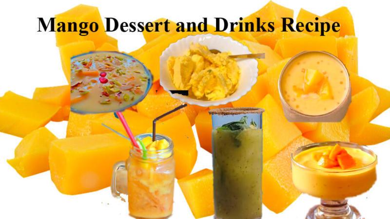 10 Mango Dessert and Drinks Recipe