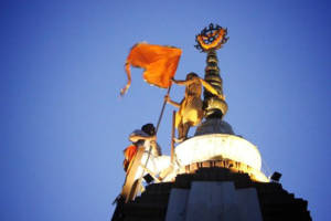 flag changing in puri