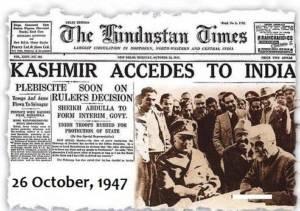 Treaty of accession india kashmir