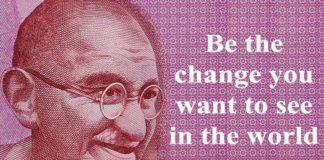 Mahatama Gandhi quote