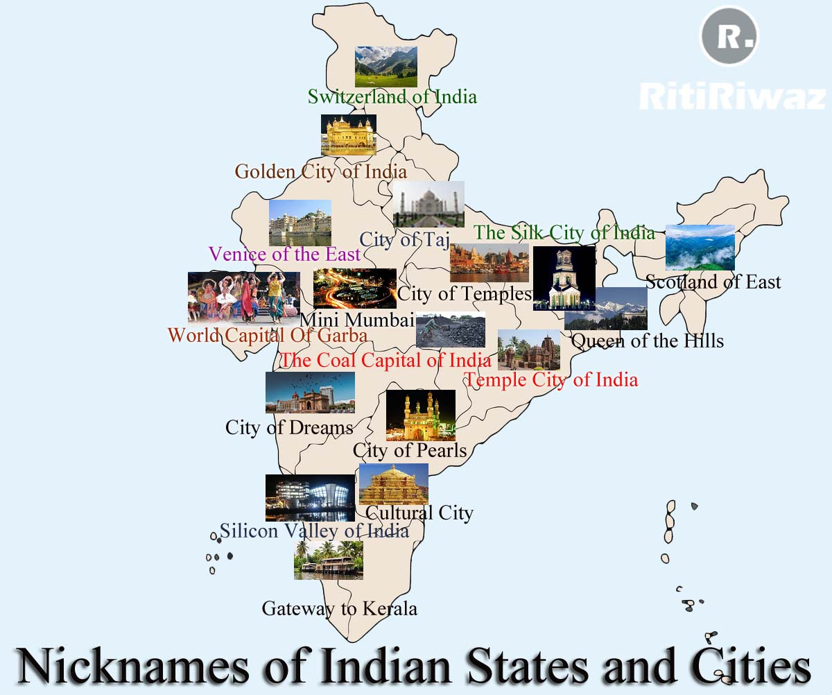 Nicknames of Indian States and Cities