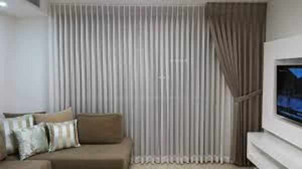 Sofa and curtain