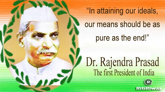 Dr. Rajendra Prasad – The First President Of India.