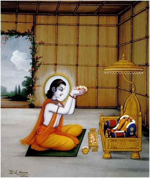 Bharat worshiping