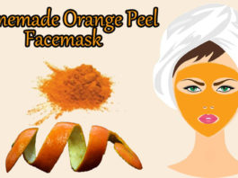 Orange peel facemask