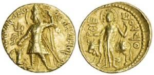 kushan gold coin