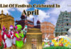 Festival in April