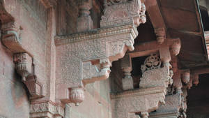Agra Fort carving