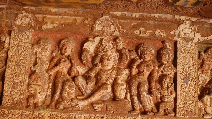 Ajanta cave scriptures