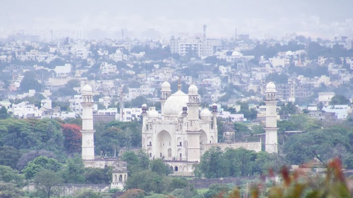 Bibi Ka Maqbara from far