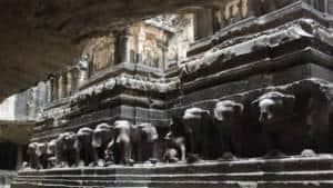 Ellor Caves sculptures