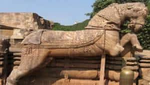 Horse in Sun Temple, Konark
