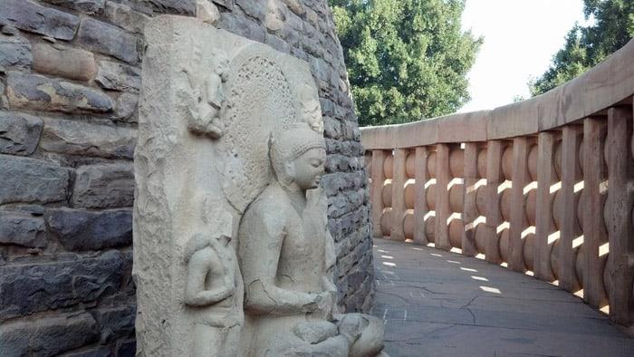 Inside Boundary of Shanti Stupa