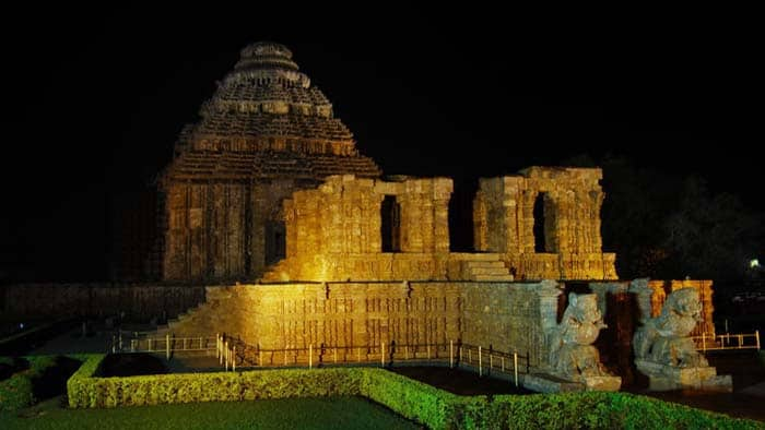 Konark Temple at night