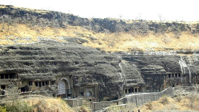 Outside view Ajanta Cave